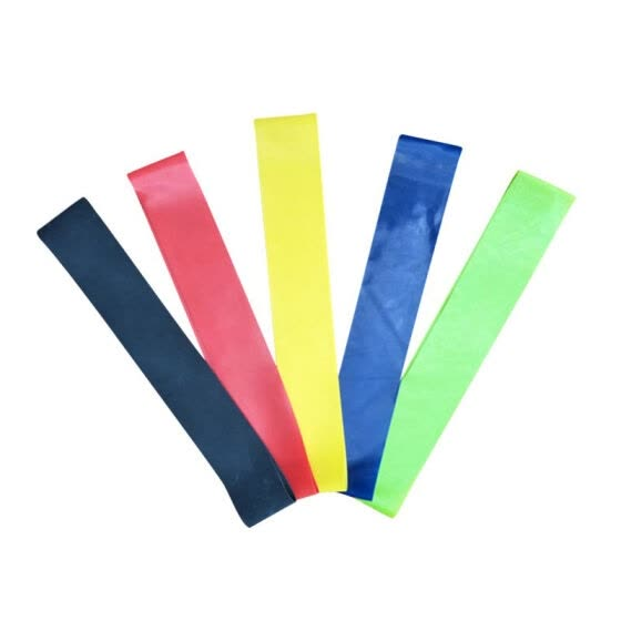 5 Colors/Set Elastic Yoga Resistance Pull Band Natural Latex Tension Resistance Band Muscle Bodybuilding Expander