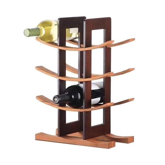 Wood Wine Rack Modern Simple Wooden Wine Storage Shelf Natural Solid Wood Wine Bottle Holder for Kitchen/Dinging Room/Pantry/Cabin