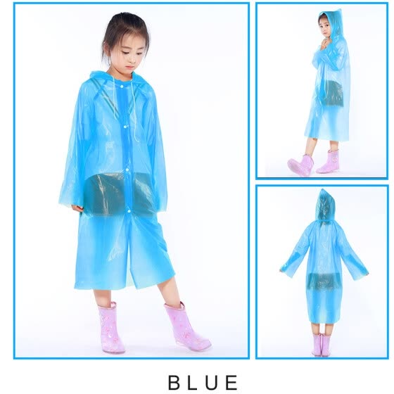Disposable Dust Proof Raincoat Outdoor Travel Kid Transparent Protective