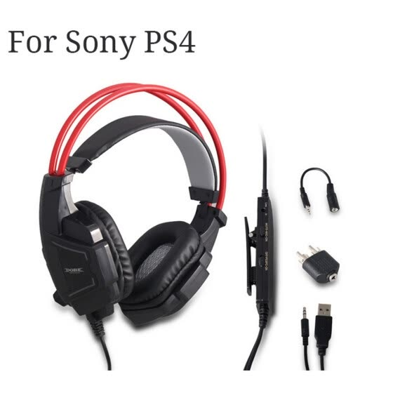 Gaming Headset 3.5mm Over-Ear Headphone Microphone For Sony Playststion PS4