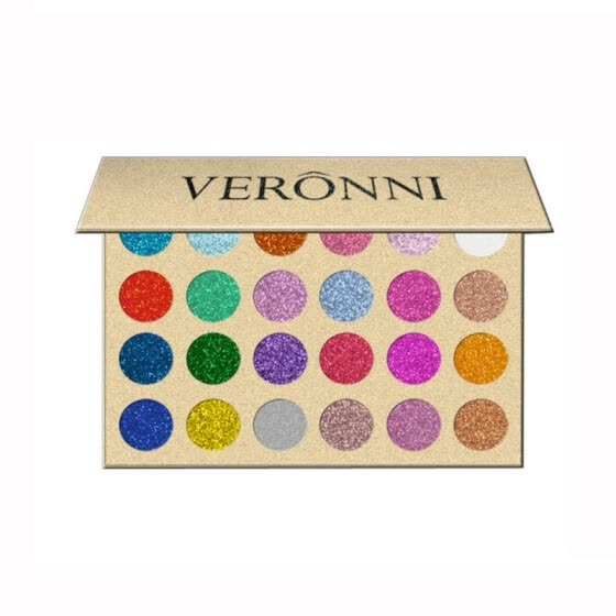 VERONNY 24 Color Glitter Injections Pressed Glitters Single Eyeshadow Diamond Rainbow Make Up Cosmetic Eye shadow Magnet Palette