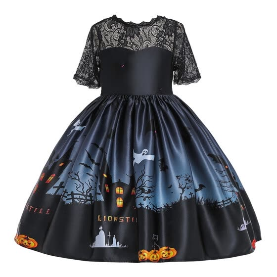 Birdfly Toddler Kids Girls Cartoon Princess Pageant Gown Halloween Party Wedding Dress