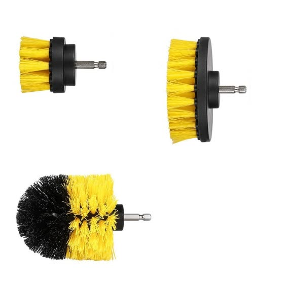 Smartbrave 3Pcs Grout Power Scrubber Cleaning Brush Cleaner Combo Tool Kit Yellow