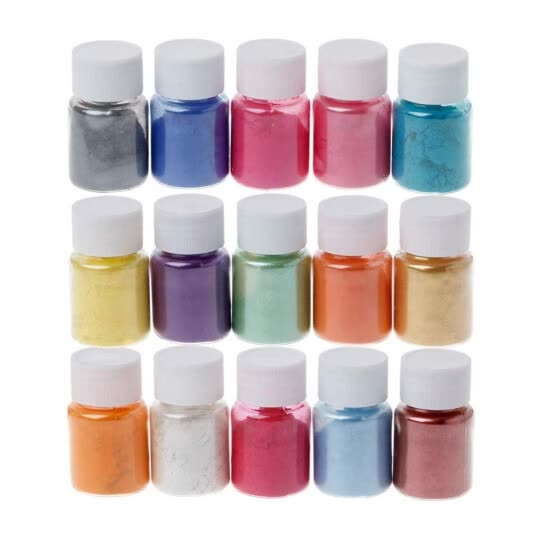 15 Colors Powder Dyes Epoxy Resin Pearl  Natural Micas Powder Pigment