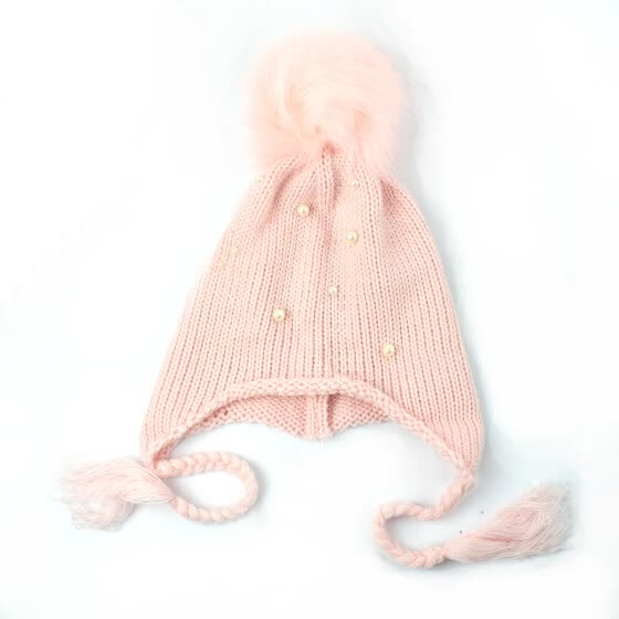 Cute Baby Warm Winter Knit Wool Beanie Hat Neckerchief Ski Cap For Boy Girl