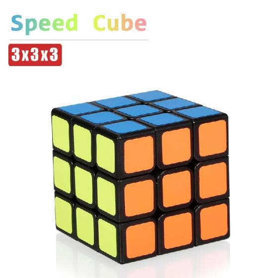 Speed Cube 3x3x3 Speed Blocks Easy Turning Cube Blocks Smooth Sticker Puzzle Toys for Kids Adults