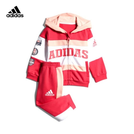 adidas Adidas 2020 spring and summer baby boy sports suit GL1359 energy powder A/86/recommended height 86cm