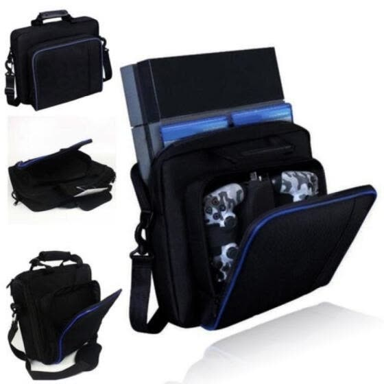Black Carry Bag Travel Case Handbag For Sony PlayStation 4 PS4 Console Accessories