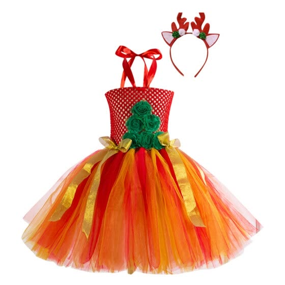 Voberry Kids Child Girls Cartoon Princess Pageant Gown Christmas Party Wedding Dress