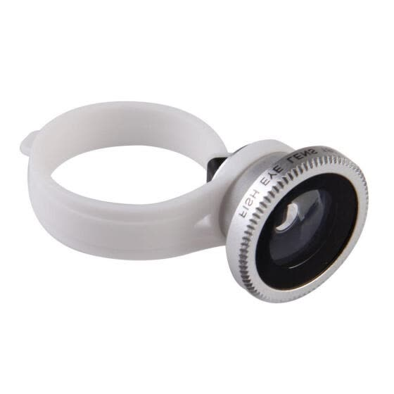 Detachable Clip Fish Eye Photo Lens For Mobile Phone Samsung iPhone Silver
