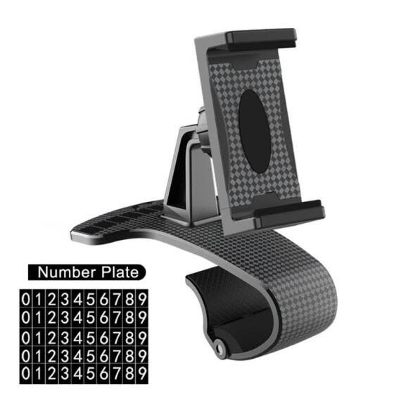 Mobile Phone Holder, Road Navigation Instrument Panel Vehicle Temporary Move Number Plate