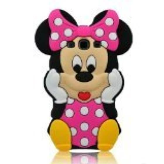 3D Cute Lovely Disney Mounse Minnie Mickey Soft Silicon Gel Rubber Case Cover Skin for samsung galaxy s3 9300 Hot Pink