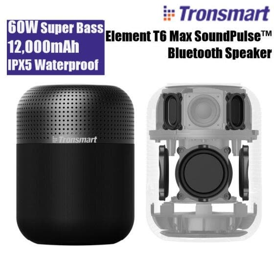 Tronsmart Element T6 Max 60W TWS bluetooth Speaker 360 Degree Surround Stereo So