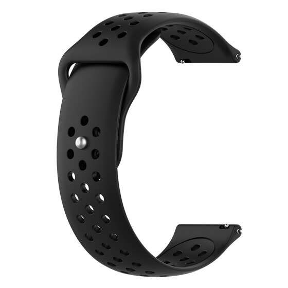20MM Universal Silicone Sport Breathable Watch Band Strap for Samsung Galaxy Active Gear S2 Garmin Vivoactive 3 Amazfit