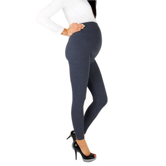 Casual Elastic Sleep Pants Soft Maternity Leggings Over Belly For Pregnant Women