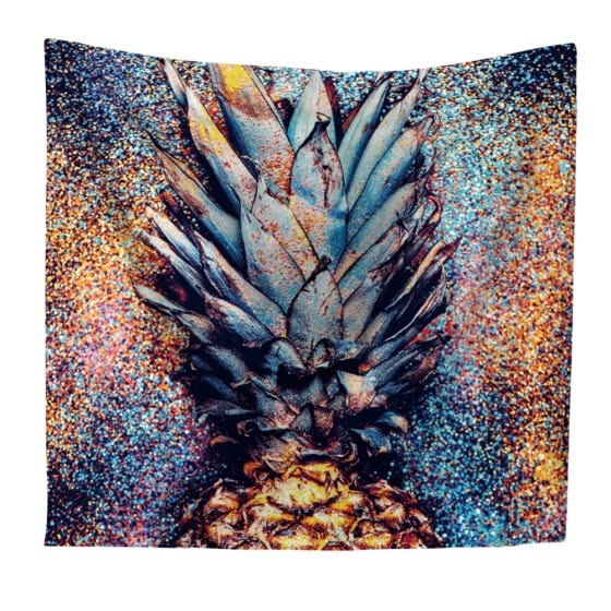 Nordic Pineapple Tapestry Tropical Beach Wall Art Home Decor Polyester Fabric Wall Hanging Blanket