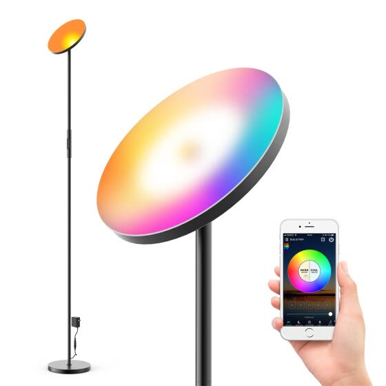 Home Floor Lamp Remote Voice Control Dimming and Color Tone Ambient Lamp US/EU Plug