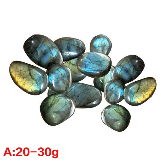 Natural Crystal Moonstone Raw Gemstone Ornament Polished Quartz Labradorite Plagioclase Ore Specimen Handicraft Pieces Played on P