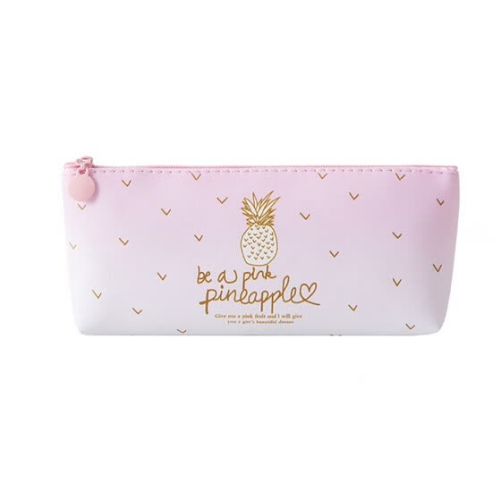 Pink Pineapple Pencil Case Cosmetic Bag Makeup Pouch  Pencils Box