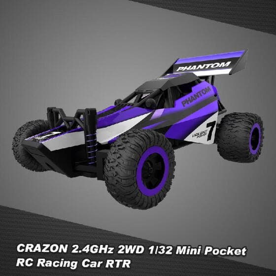 CRAZON 1/32 Mini Pocket RC Racing Car 2.4GHz 2WD RTR Buggy RC Stunt Car Toy