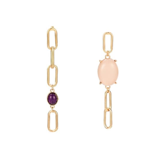 Senuolre Fashion Boutique Asymmetrical Style Female Favorite Gemstone Earrings Gift