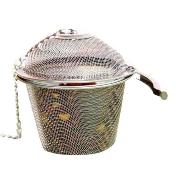 Stainless Steel Soup Taste Spice Box Basket Brine Hot Pot Slag Separation Colander Strainers Cooking Tools