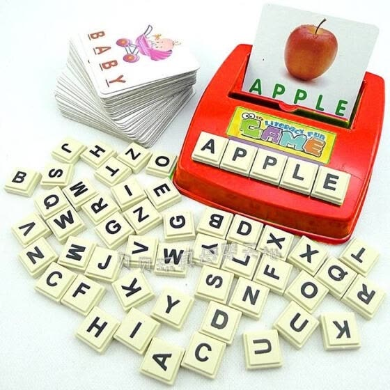1set Early childhood educational aids for children toys fun learning English spell the word