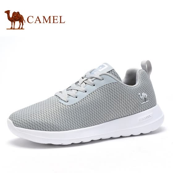 Camel (CAMEL) soft breathable mesh sports and leisure shoes A912304580 light gray 42