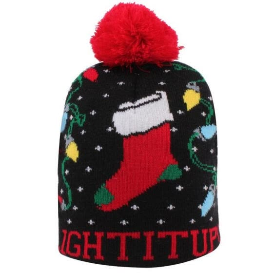 Baby Boys Girls Christmas Beanie Cap Kids Winter Warm Knitted Hat