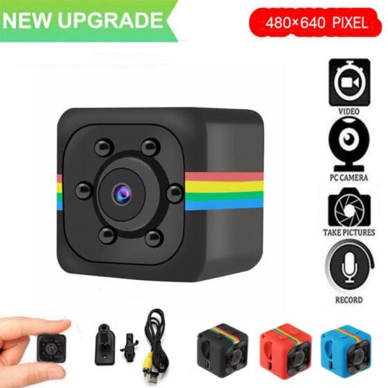 SQ11 Mini Camera 480P Sensor Night Vision Camcorder Mini Camcorders Sport Camera Car DVR Video Voice Recorder support 32g card