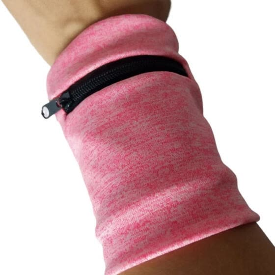 Multi-function Wrist Bag Change Key Summer Breathable Sweat-absorbent Fabric Absorbent Towel Wallet Wristband with Zipper for