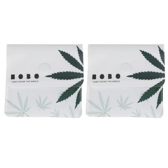 HOMEMAXS 2Pcs Cigarette Ash Bags Portable Green Leaf Pattern Lightweight Creative Delicate Ash Pockets Cigarette Ash Holder