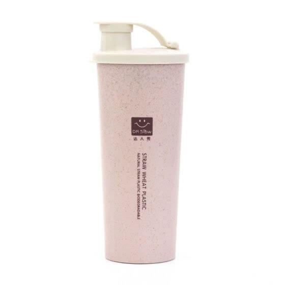 whey protein shake bottle water bottle wheat straw without BPA sports Shaker milkshake protein bottle 450 ml
