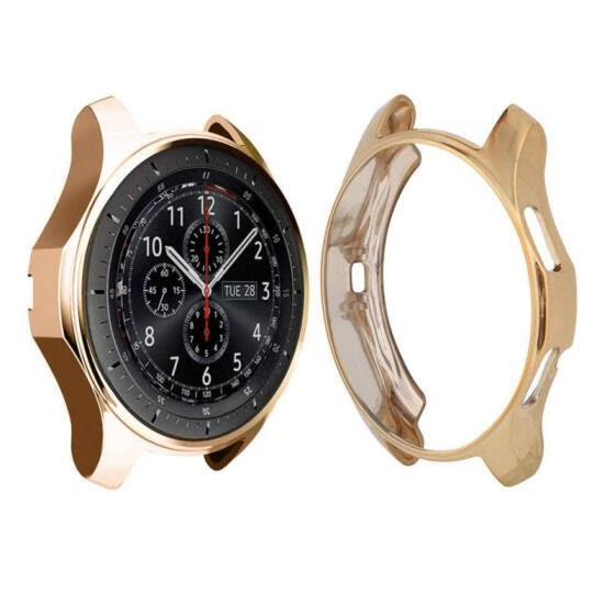 46mm 42mm Soft TPU Plated All-Around Protective Cases Shell Frames New Smart Watch Case Cover for SamSung Gear S3 Galaxy Watch