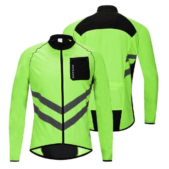 Men's Windproof Cycling Jacket Highly Visible Reflective Bike Bicycle Riding Coat Outdoor Sports Jacket