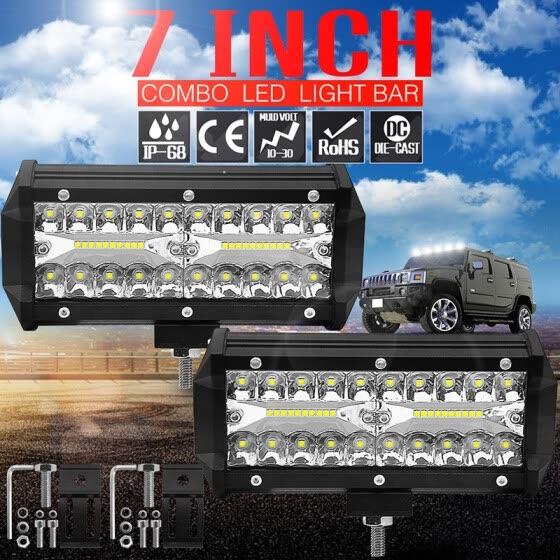 Shop 1pair Car Working Lights 120w Car Led Light 12v 6 Inch
