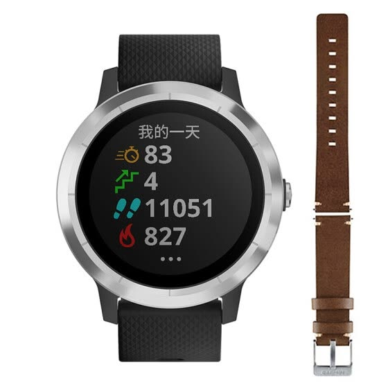 Garmin vivoactive3 Cool Black Dili Hotba with running cycling swimming call reminder sleep monitoring waterproof GPS sports payment smart watch