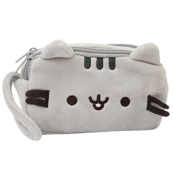 Cat Pencil Case Cute Plush Pen Bag Makeup Pouch Cosmetic Bag Kid Stationery Gift