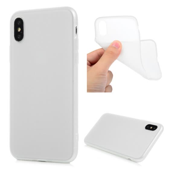 For iPhone X Frosted TPU Case Candy Series Translucent