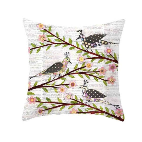 Follure Natural Pattern Printing Dyeing Sofa Bed Home Decor Pillow Cover Cushion Cover