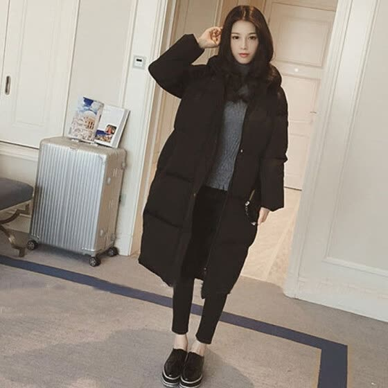 Winter Coat Women New Fashion Solid Color Pocket Plus Size Long Jacket Korean Style Long Sleeve Thick Warm Hooded Parka 2020