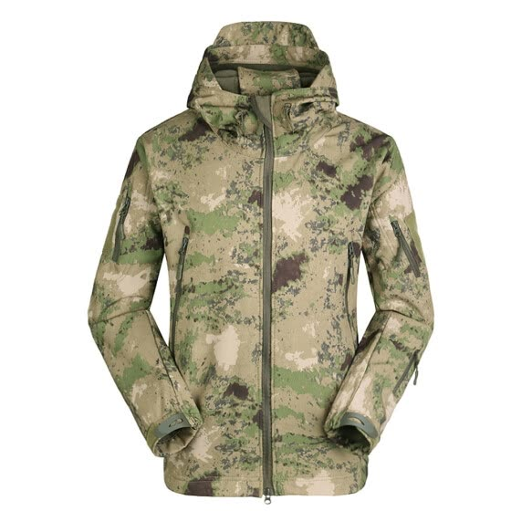 Men's Outdoor Hooded Windproof Jacket Coat Hunting Camping Climbing Hiking Clothing