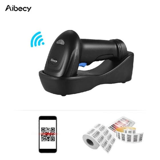 Aibecy WM3L 433MHz Wireless 1D 2D Auto Image Barcode Scanner Handheld QR code PDF417 Bar Code Reader 200m/656ft Range 1300t/s Fast