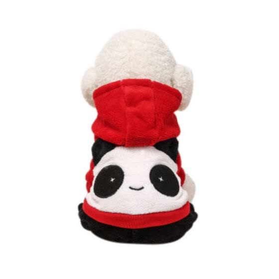XS-XL Pet Dog Red Panda Hoodie Coat Warm Puppy Hooded 4-legged Clothes Dog Sweatshirt Winter Clothes For Small Dogs Pet Shop New