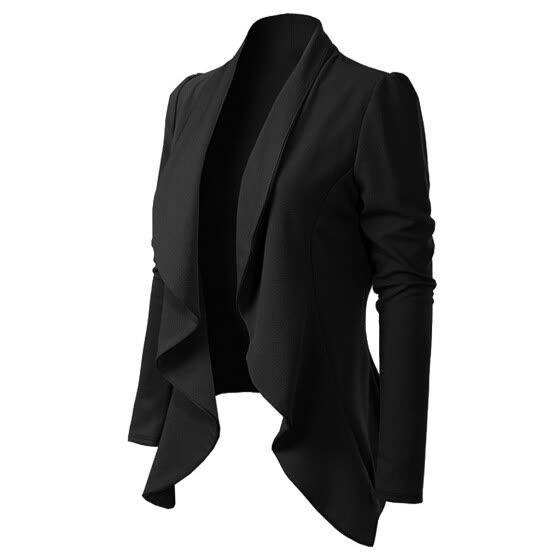 Women Elegant Style Long Sleeve Turn Down Collar Long Sleeve Brief Blazer Coat White,Black,Wine S-XXL