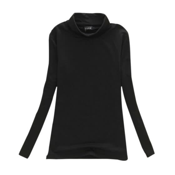 Multi-colors Autumn Winter Women Tops Long Sleeve Turtleneck Women T-shirt Solid Stretch Tops Women Silm Bottoming Shirt Tops W4