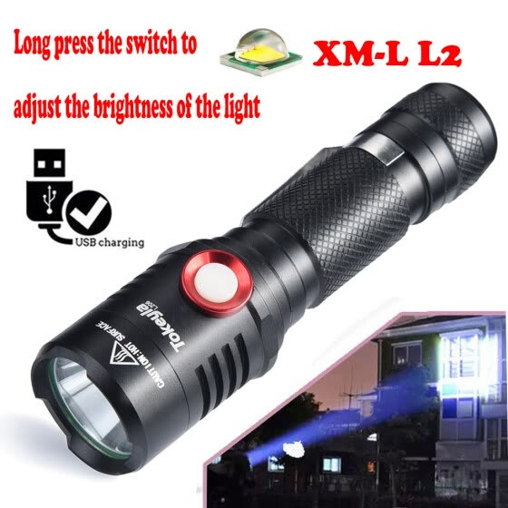 MIARHB Portable Xml-L2 Outdoor Usb Led Flashlight Torch Bright 18650 Light Lamp