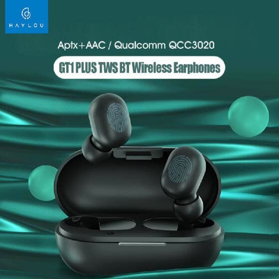 Haylou GT1 Plus TWS Wireless Earphones Qualcomm QCC3020 BT 5.0 Smart Touch Earbuds DSP Aptx AAC Siri Google Assistant IPX5 Sports