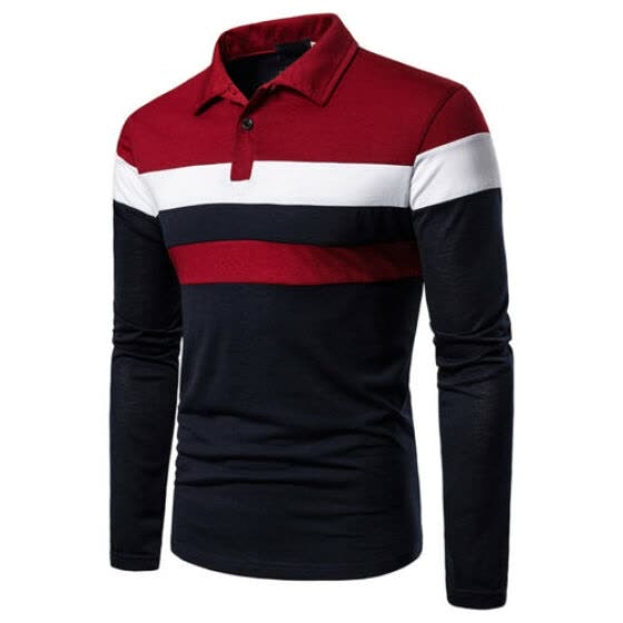 Long Full Sleeve shirt Unisex Men's Polo Shirt Work Casual Leisure TOP UK