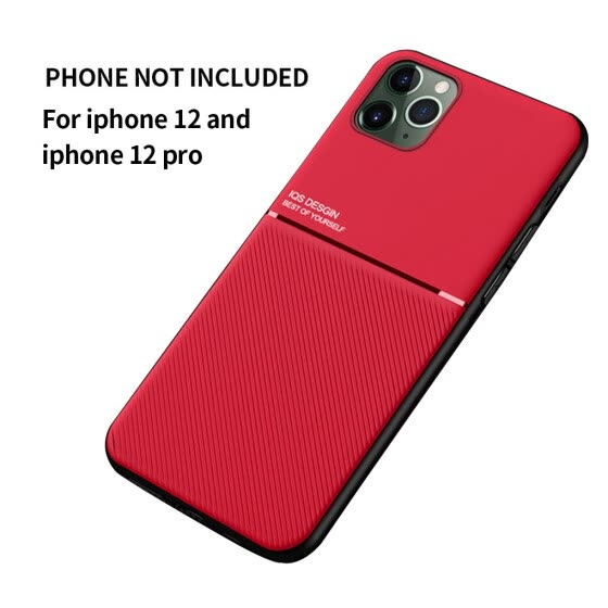 Phone Shockproof Cover Mobile Phone Non-slip TPU Soft Case Guard, Replacement for iPhone 12/12 Pro, Red